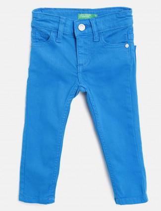 UCB royal blue denim solid jeans