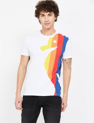 UCB白色印花圆领T恤