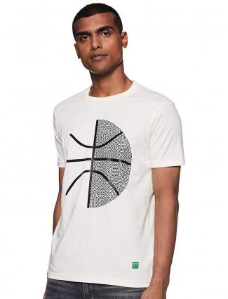 UCB白色印花T恤