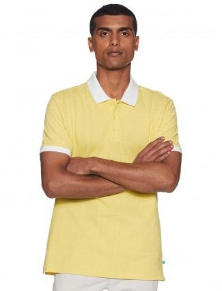 UCB yellow printed cotton t-shirt