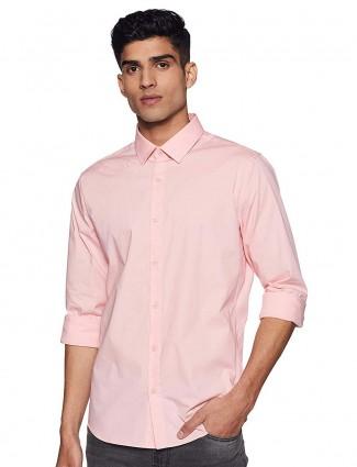 贝纳通United Colors棉质粉红色衬衫