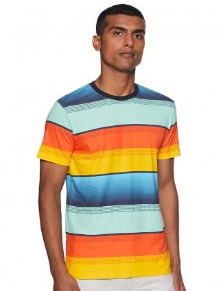United Colors of Benetton multicolor stripe t-shirt
