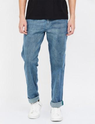 贝纳通United Colors纯色蓝色修身牛仔裤