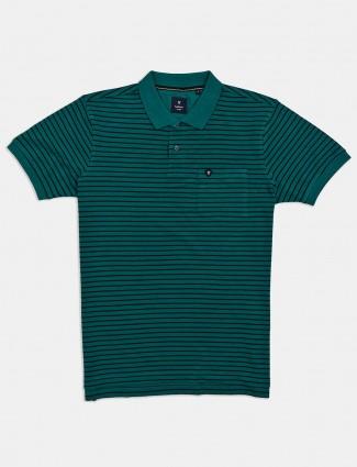 Van Heusen green stripe t-shirt