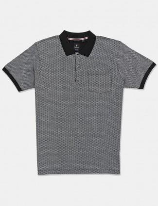 Van Heusen printed grey cotton t-shirt