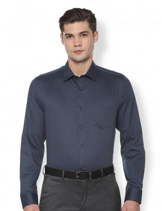 Van Heusen printed navy mens shirt