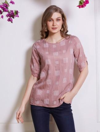Violet casual printed top