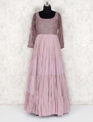 Violet color georgette floor length lovely anarkali salwar suit