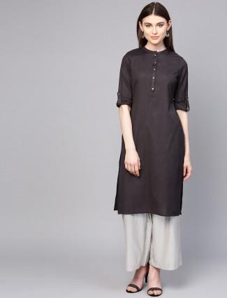 W dark grey color casual wear cotton kurti