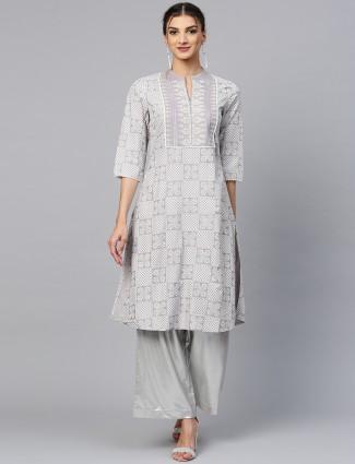 W grey hue casual cotton kurti
