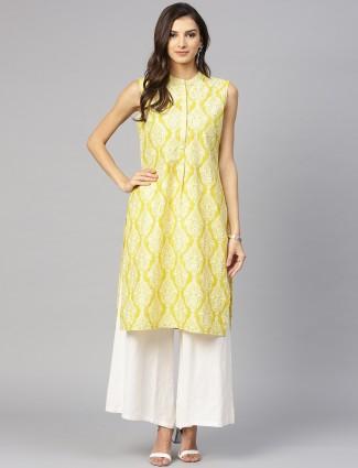 W yellow color casual kurti