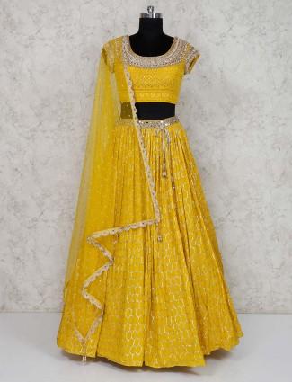 Wedding lehenga choli in yellow