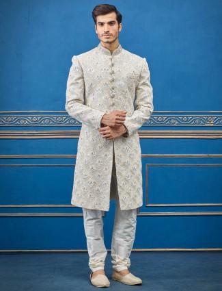 婚纱奶油特里人造丝印度西服