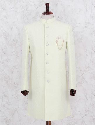 Wedding wear light green indo western