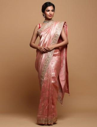 Wedding Wear Pink Silk Saree