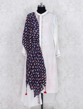 White color cotton fabric designer salwar suit