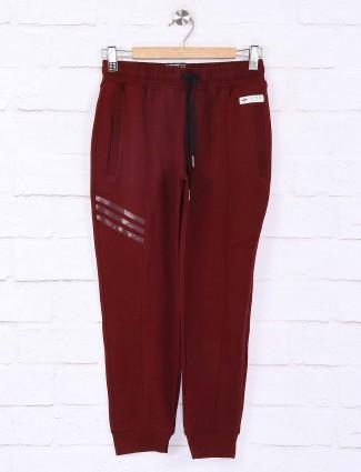 Xn Sport slim fit maroon solid payjama
