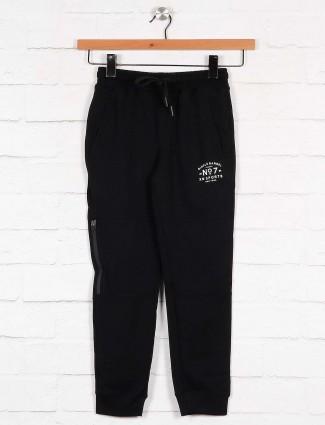 Xn Sport solid black cotton fabric payjama