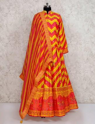 Yellow anarkali salwar suit for wedding