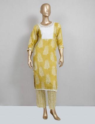 Yellow salwar suit for festive wear