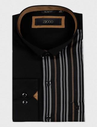Zillian black stripe pattern shirt
