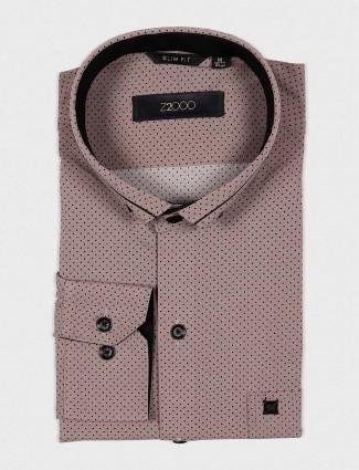 Zillian coffee brown printed shirt