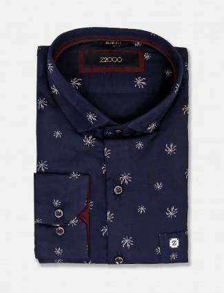 Zillian navy printed shirt for mens