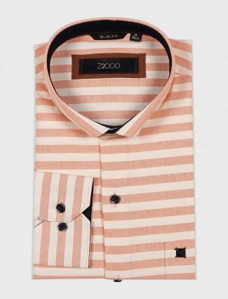 Zillian presented peach stripe shirt