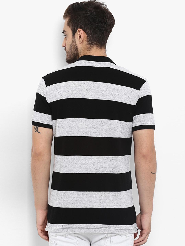 81c9580f Mufti grey and black stripe cotton t-shirt - G3-MTS8747 | G3fashion.com