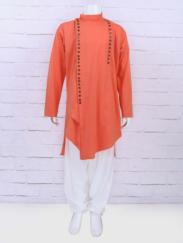 a30977fbb5 Orange hue cotton fabric designer kurta suit - G3-BKS0824 ...