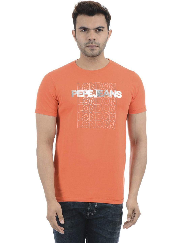 Pepe Jeans Printed Orange T Shirt G3 Mts11043 G3fashion Com