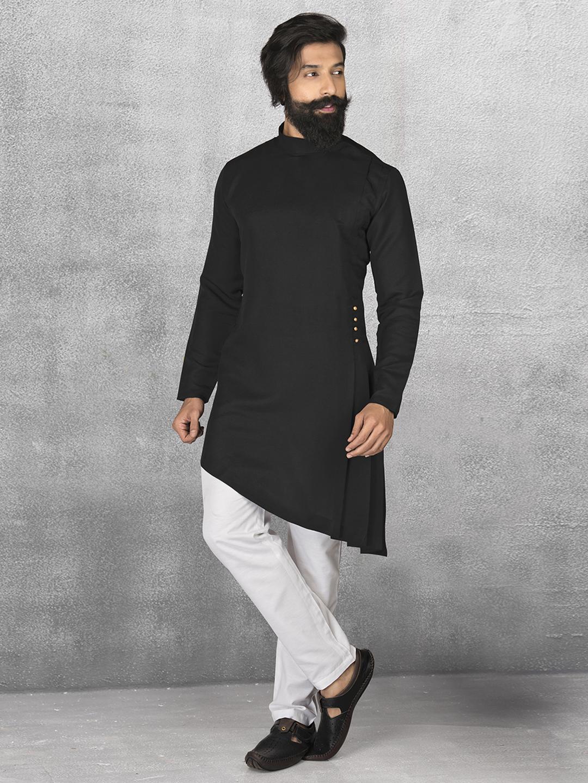 f4c8ec8ebd Terry rayon black kurta suit - G3-MKS0511 | G3fashion.com