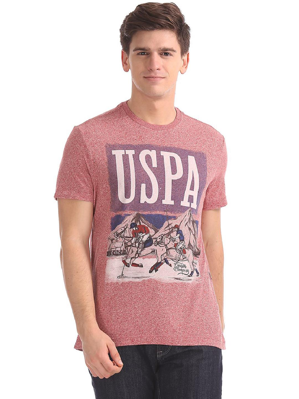 bfbdf268 U S Polo pink color printed t-shirt - G3-MTS6856 | G3fashion.com
