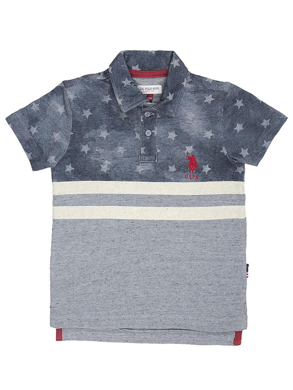 685624d3b U S Polo printed pattern grey t-shirt - G3-BTS1597 | G3fashion.com