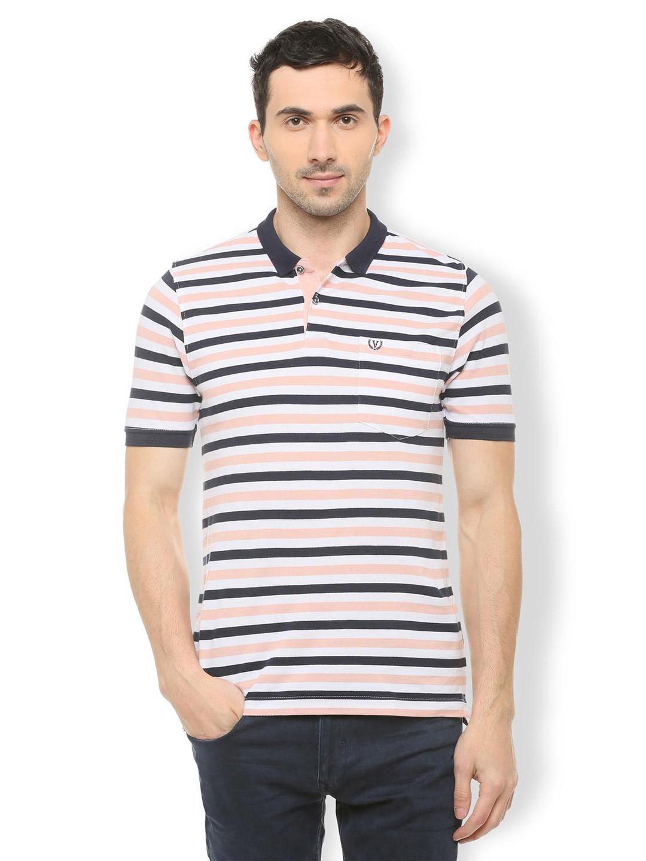 0ea178a738 Van Heusen black and peach stripe t-shirt - G3-MTS8683   G3fashion ...